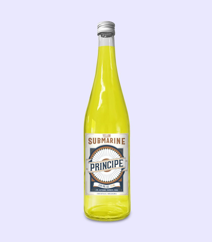 cocktail zafferano in bottiglia a bologna drink consegna a domicilio